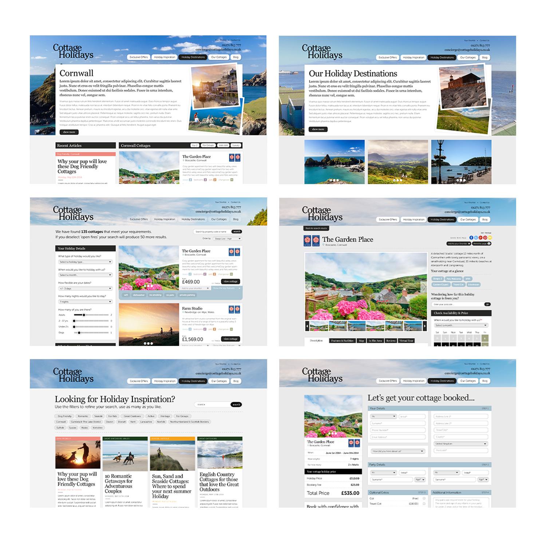 Cottage Holidays desktop site