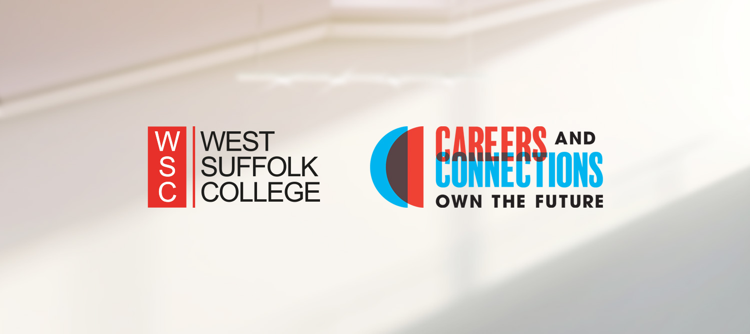 West Suffolk College and Careers and Connections logos