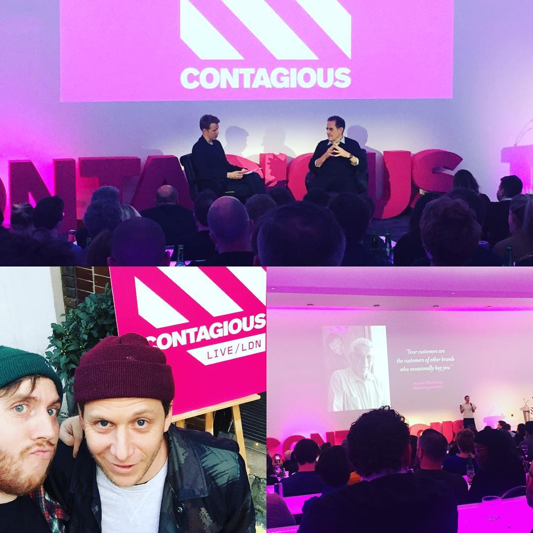 Great night @contagious live London. Inspiring talk from Dave Trott.