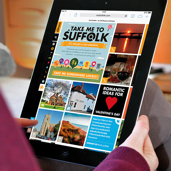 Visit Suffolk on tablet