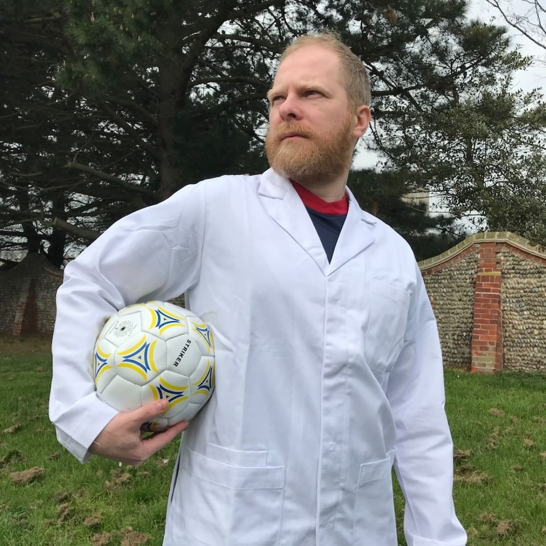 A lab coat, a football and a thousand yard stare. What have we been up to this week? All will be revealed on Monday … #AgencyforChange #Spring #KnowWhatMatters #Football #Soccer #Filming #HeroicPose