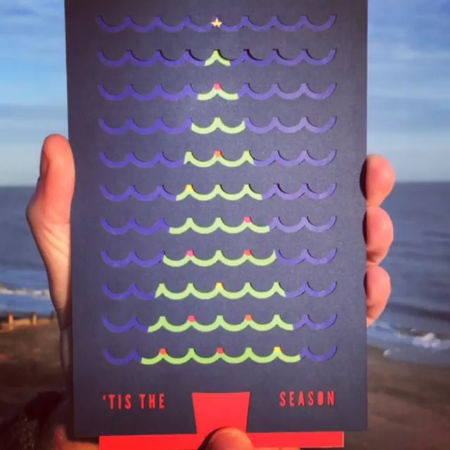 We are pleased to announce our 2018 Christmas card, Tis the Sea-son, has been nominated for a @designweekmag #award, we'll find out whether we've won at the ceremony in London next month.  #Spring #Change #DwAwards19 #MakeExcellentWork #Design #ManualGIF #JustWaving