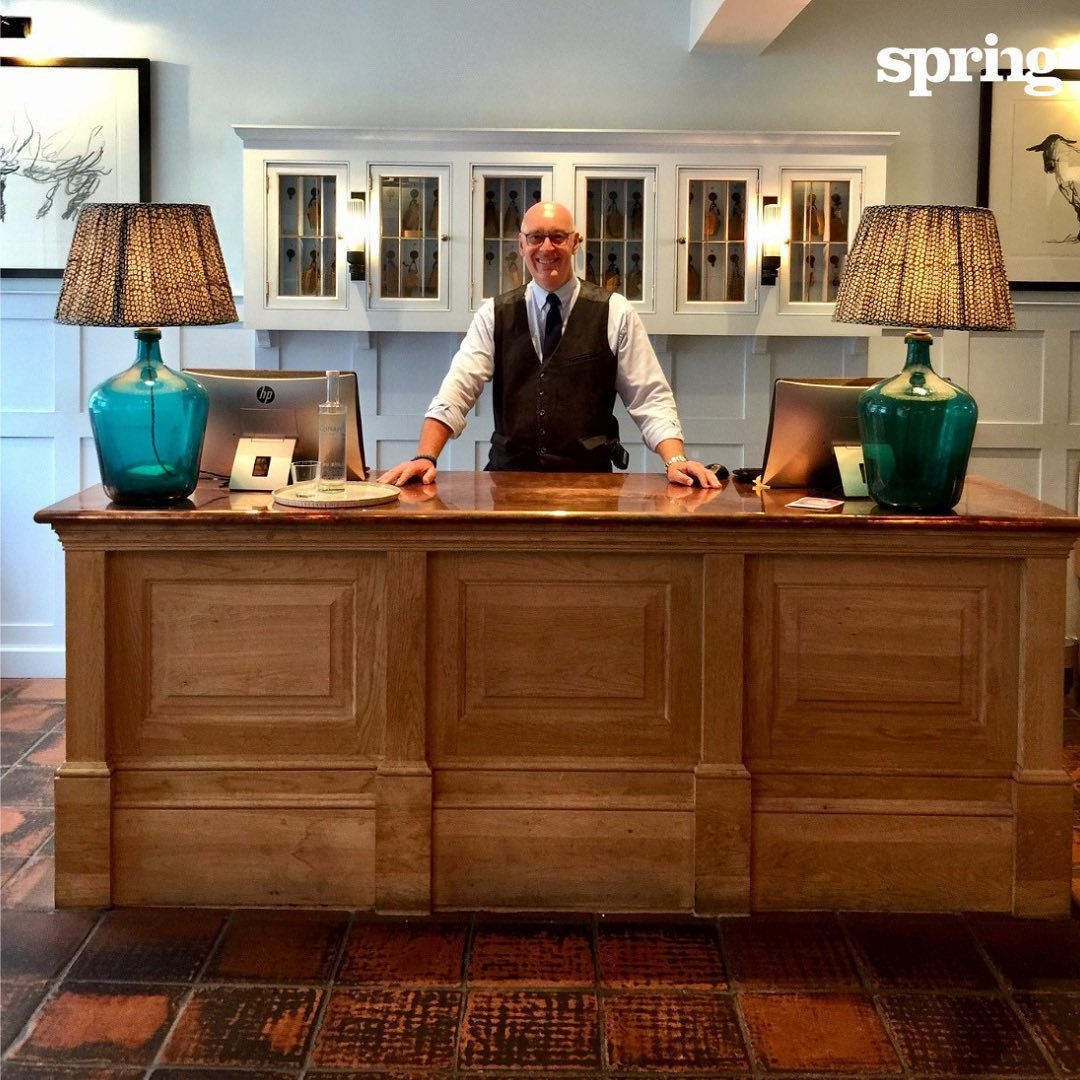 Our #SpringLife today is in appreciation of Andy at @swansouthwold . Although the Springers love our main studio and meetings annex, we sometimes need a third space for meetings, workshops and after- work relaxation. Andy is always around to give a helping hand and a smile, which just adds to the lovely atmosphere of this beautiful hotel! #southwold #summer He also rocks a great #Irvin #flyingjacket in the winter. Andy, we like your style!  #BringPositiveEnergy #KnowWhatMatters #AgencyForChange