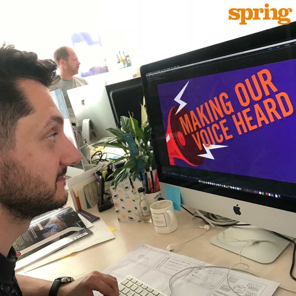 Our #SpringLife today sees #Springer Mat working on the final edits of an #animation for #britishpsychologicalsociety AGM next month. His creative task is to bring their #annualreport to life, as the opener for what promises to be a high-Energy, big thinking season amongst some of psychology's leading practitioners.  #psychology #agencyforchange #liveourvision #bringpositiveenergy