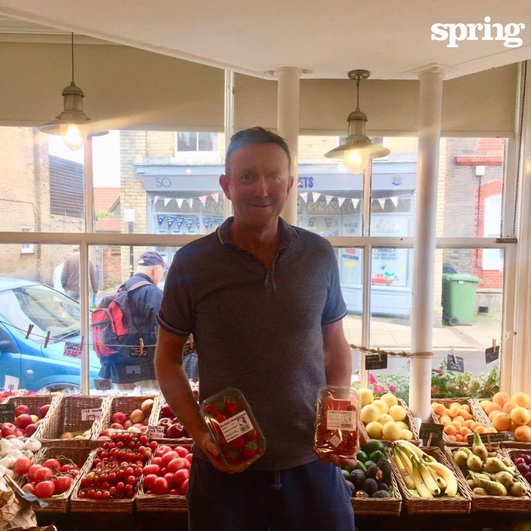 Today's #SpringLife is in praise of our favourite #greengrocer , Matt. He drops off our #healthysnacking fruit three times a week to keep us all well-fed and perky. This is his place, a busy and brilliant #fruitandvegshop called @littlegems21 , where you'll always find loads of #local #seasonalfood , every colour you could dream of #eattherainbow and some things you've never tried before. #agencyforchange #knowwhatmatters #bringpositiveenergy