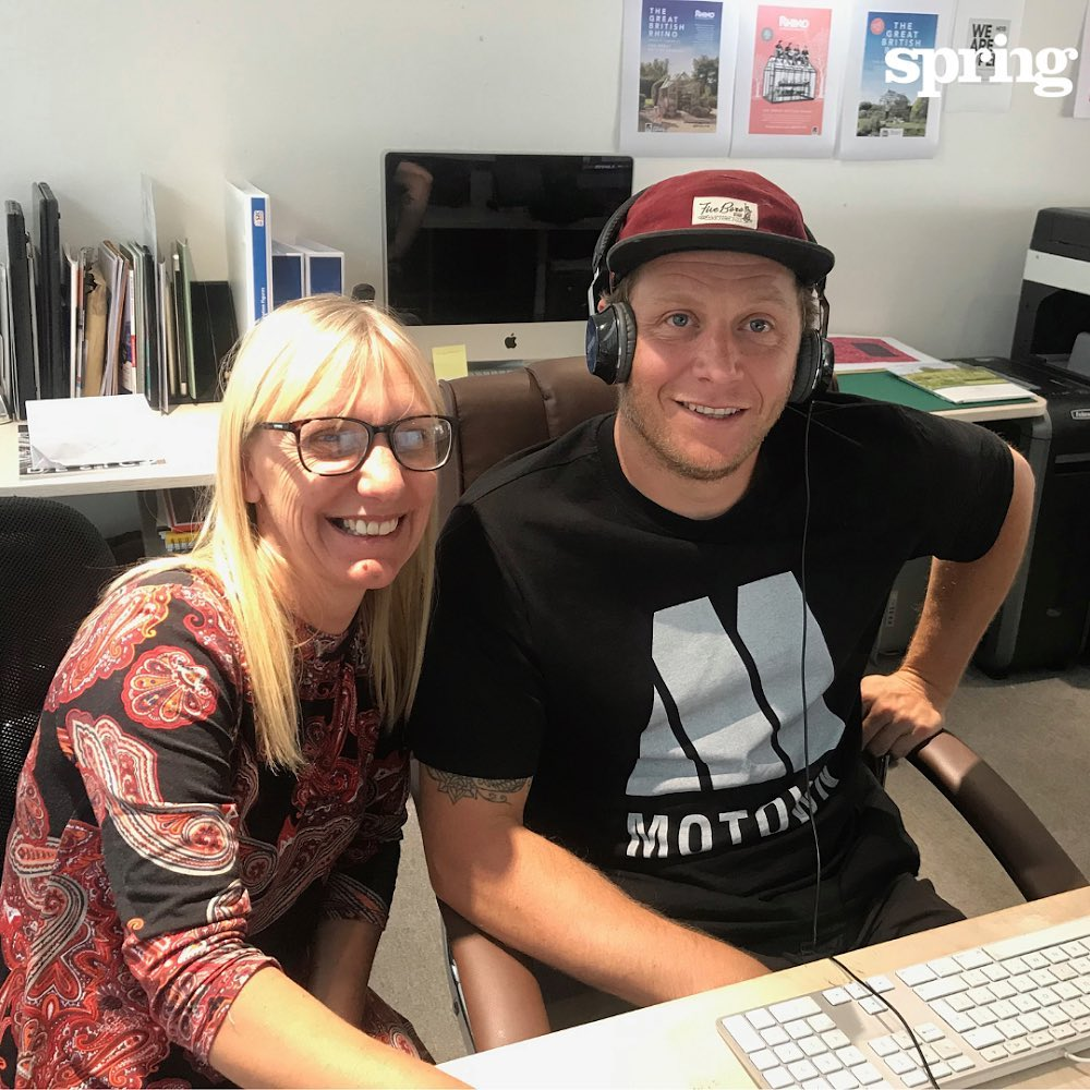 Two remarkably perky looking #Springers Su and Glen who have been working super-hard this week to get 43,000 #newsletters out for a client on a tight turnaround #gettingitrightfirsttime #design #typography #proofreading #print #mailing #FridayFeeling #agencyforchange #bringpositivenergy #knowwhatmatters